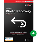 Stellar Photo Recovery Professional - Licence 1 an - 1 poste - A télécharger