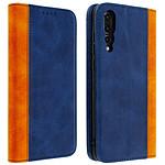 Avizar Etui folio Bleu Nuit pour Huawei P20 Pro