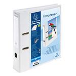Exacompta Classeur à levier Prem'Touch dos 70mm 1 pochette extérieure A4 blanc