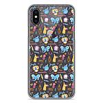 1001 Coques Coque silicone gel Apple iPhone X / XS motif Happy animals