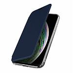 Avizar Etui folio Bleu Nuit pour Apple iPhone XS Max