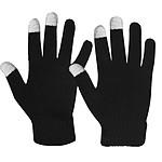 Avizar Gants pour Écran Tactile Unisexe Fluidité Tactile Conservée Tricoté Noir