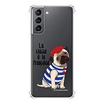 LA COQUE FRANCAISE Coque Samsung Galaxy S21 5G anti-choc souple angles renforcés transparente Chien Marinière