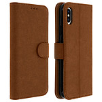 Avizar Etui folio Marron pour Apple iPhone XS Max