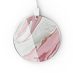 EVETANE Chargeur Induction contour argent blanc Mercure Rose