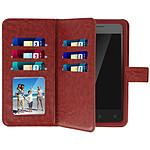 Avizar Etui folio Marron pour Smartphones de 5.3' à 5.5'
