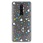 1001 Coques Coque silicone gel Xiaomi Mi 9T motif Licorne rainbow