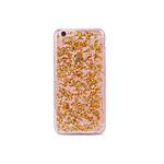 COQUEDISCOUNT Coque silicone souple Pétales de Paillettes Or pour iPhone 6/6S