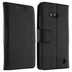Avizar Etui folio Noir pour Nokia Lumia 735 , Nokia Lumia 730