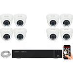 EC-VISION Kit vidéo surveillance IP 8 caméras dômes POE 5 MegaPixels Auto-Zoom x5