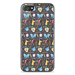 1001 Coques Coque silicone gel Apple iPhone SE 2020 motif Happy animals
