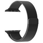 LA COQUE FRANCAISE Bracelet Noir compatible avec Apple Watch 38 mm (Vendu sans la montre)