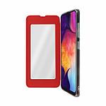Avizar Etui folio Rouge Miroir pour Samsung Galaxy A50