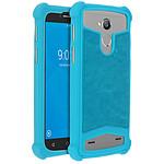 Avizar Coque Turquoise pour Smartphones de 5.3' à 5.5'