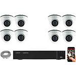 EC-VISION Kit vidéo surveillance IP 8 caméras dômes POE 5 MegaPixels