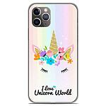 1001 Coques Coque silicone gel Apple iPhone 11 Pro motif Unicorn World