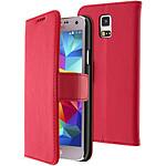Avizar Etui folio Rouge pour Samsung Galaxy S5 , Samsung Galaxy S5 New