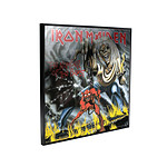 Iron Maiden - Décoration murale Crystal Clear Picture Number of the Beast 32 x 32 cm