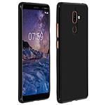 Avizar Coque Noir Souple pour Nokia 7 plus
