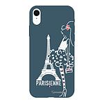LA COQUE FRANCAISE Coque iPhone Xr Silicone Liquide Douce bleu nuit Parisienne