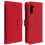 Avizar Etui folio Rouge Éco-cuir pour Samsung Galaxy Note 10