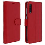 Avizar Etui folio Rouge pour Samsung Galaxy A50 , Samsung Galaxy A30s