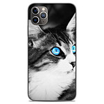 1001 Coques Coque silicone gel Apple iPhone 11 Pro Max motif Chat yeux bleu