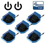 Qubino Pack De 5 Modules 2 Relais Z-wave Plus Encastrable - Qubino QUB_LOT5_ZMNHBD1