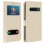 Avizar Etui folio Dorée pour Samsung Galaxy S10 Plus