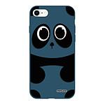 EVETANE Coque iPhone 7/8/ iPhone SE 2020 Silicone Liquide Douce bleu marine Panda