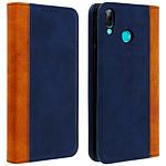 Avizar Etui folio Bleu Nuit Éco-cuir pour Huawei P Smart 2019 , Honor 10 Lite