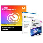 Pack Adobe Creative Cloud All Apps Education + Microsoft 365 Personnel + Bitdefender Total Security - Licence 1 an - 1 utilisateur - A télécharger