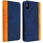 Avizar Etui folio Bleu Nuit Éco-cuir pour Apple iPhone XS Max