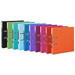 Exacompta Lot de 10 classeurs à levier Prem'Touch dos 50mm 1 pochette extérieure A4 couleurs pastel assorties