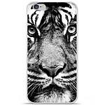 1001 Coques Coque silicone gel Apple IPhone 7 motif Tigre blanc et noir