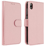 Avizar Etui folio Rose Champagne pour Huawei Y5 2019 , Honor 8S