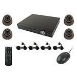 YONIS kit vidéo surveillance 4 caméras Noir Y-2316