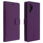 Avizar Etui folio Violet Éco-cuir pour Samsung Galaxy Note 10