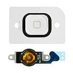 Avizar Bouton Home Complet avec nappe de connexion pour Apple iPhone 5 Blanc