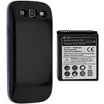Avizar Batterie Noir pour Samsung Galaxy S3