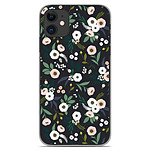 1001 Coques Coque silicone gel Apple iPhone 11 motif Flowers Noir