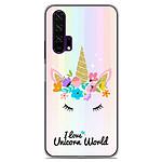 1001 Coques Coque silicone gel Huawei Honor 20 Pro motif Unicorn World
