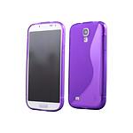 COQUEDISCOUNT Coque silicone S line bi-matiere violette pour Samsung Galaxy S4 i9500