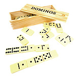 Boite en bois de dominos
