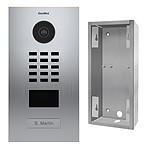 Doorbird Portier vidéo IP lecteur de badge RFID + Boitier de montage apparent
