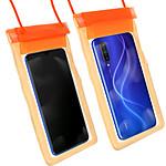 Avizar Housse étanche Orange pour Tous les smartphones jusqu'à une taille maximale de 160 x 100 mm