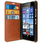Avizar Etui folio Marron pour Nokia Lumia 640 , Microsoft Lumia 640