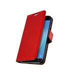 Avizar Etui folio Rouge Éco-cuir pour Samsung Galaxy J3 2017