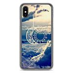 1001 Coques Coque silicone gel Apple iPhone X / XS motif Lune soleil