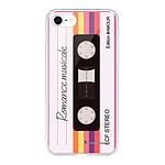 LA COQUE FRANCAISE Coque iPhone 7/8/ iPhone SE 2020 360 intégrale transparente Cassette Vintage Romance Tendance